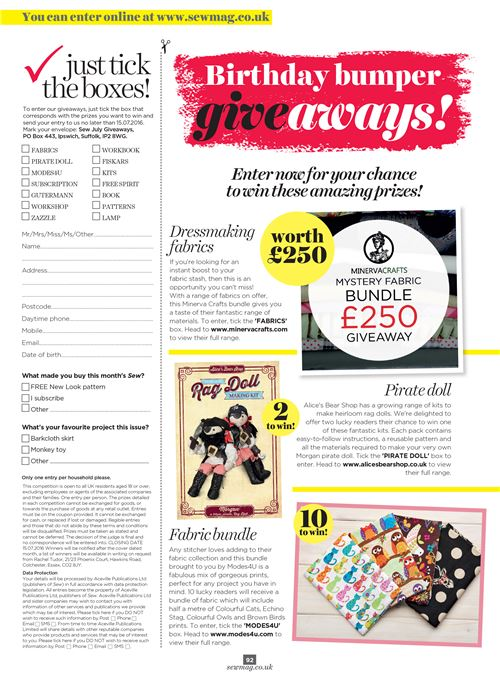 Join Our Fabric Bundle Giveaway with Sew Magazine 2
