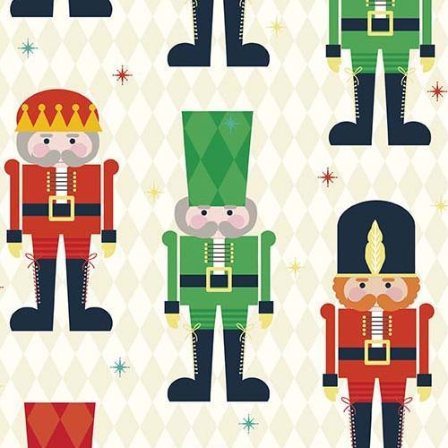 cream beige Riley Blake fabric Christmas Nutcracker soldier Nutcracker Christmas