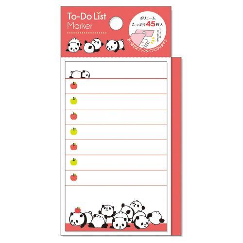 cute orange-red panda Note Pad to do list marker from Japan