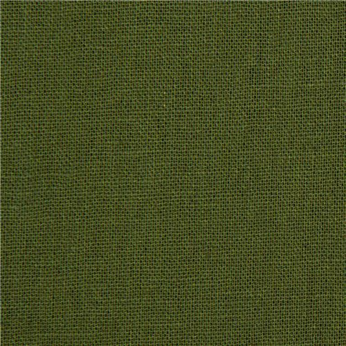 solid green echino laminate canvas fabric