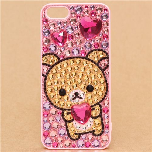 Korilakkuma rhinestone iPhone 5 hard cover case Deco Den