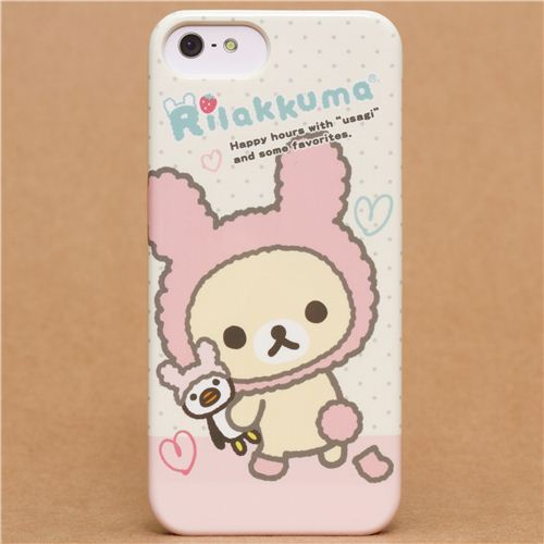 Rilakkuma white bear as bunny iPhone 5 hard cover case