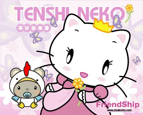 Tenshi Neko wallpaper