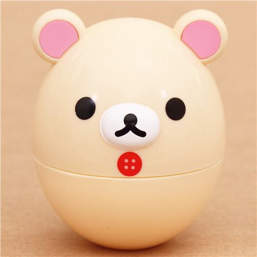 Rilakkuma white bear boiled egg case bento egg box lunch box