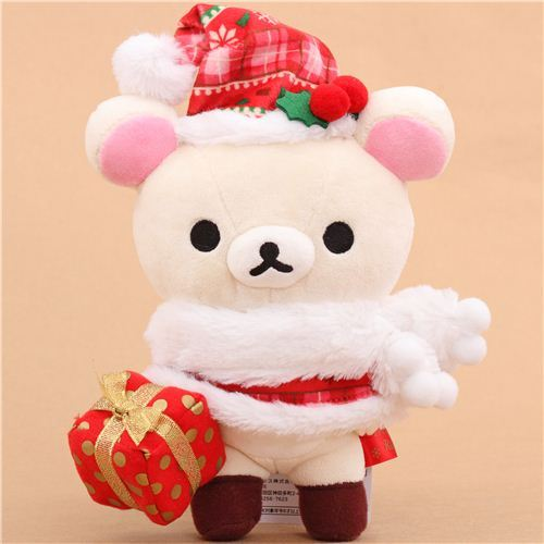 Rilakkuma white bear Santa Claus Xmas plush toy San-X Japan