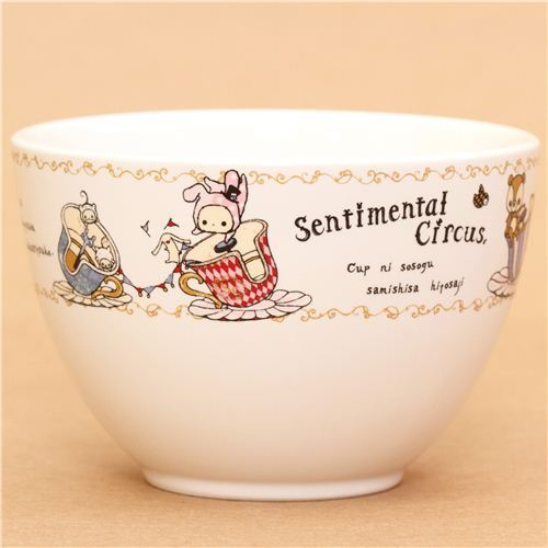 kawaii Sentimental Circus ceramics mug bowl by San-X