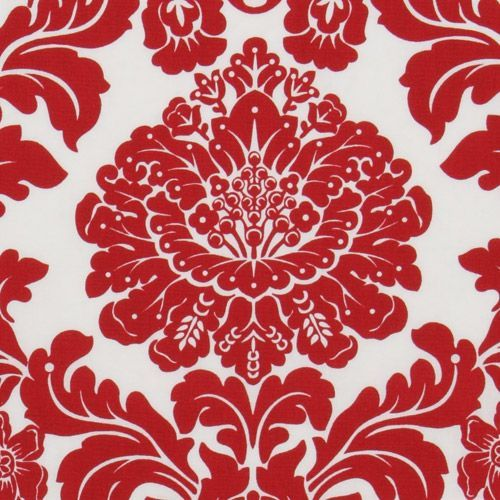 Michael Miller fabric Delovely Damask white-red