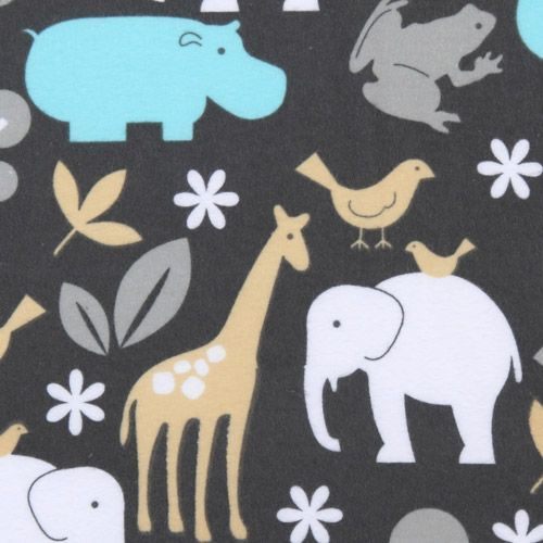 Michael Miller flannel fabric Zoology zoo animal pastel