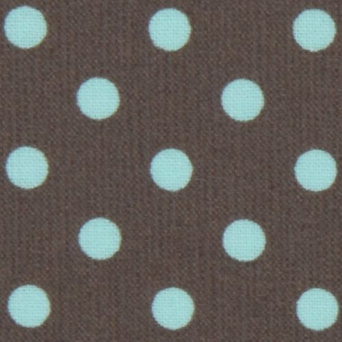 Michael Miller laminate fabric Dumb Dot turquoise dots