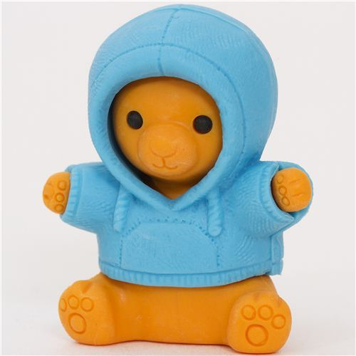 bear in blue parka eraser by Iwako from Japan