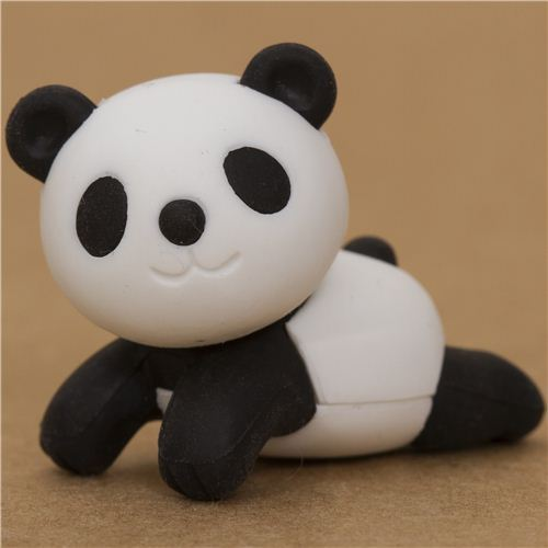 black panda bear eraser by Iwako from Japan