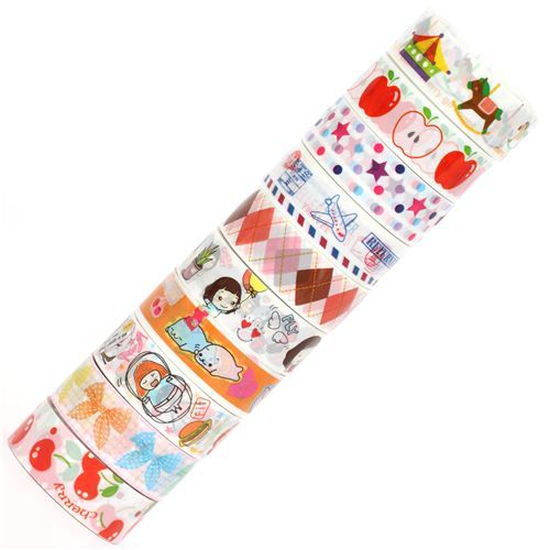 cute Deco Tape adhesive tape 10pcs Set 43