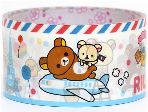 kawaii cute big Rilakkuma bear Deco Tape San-X