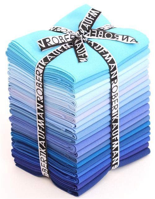 Fat Quarter fabric bundle True Blue Robert Kaufman USA