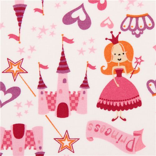 white princess fairy tale fabric USA Little Princess Toss