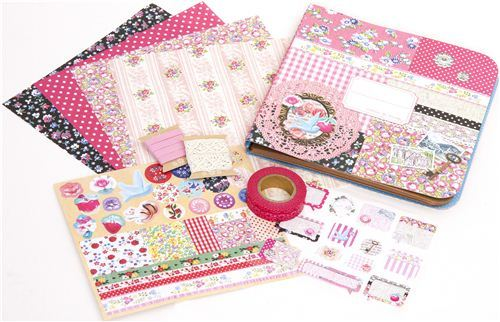 Scrapbooking kit from Japan in Collage style