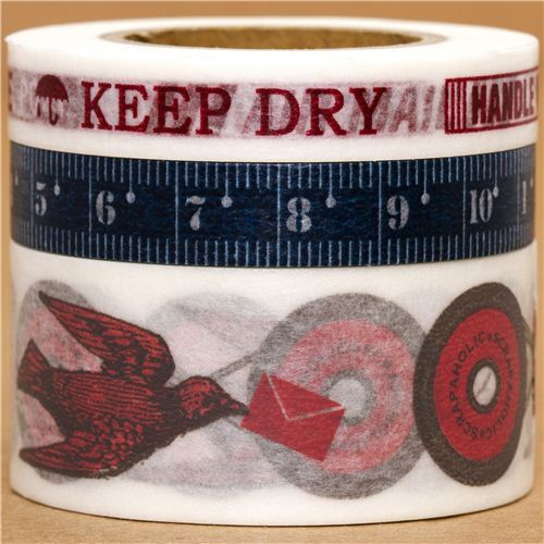 Washi Masking Tape deco tape set 3pcs measure tape