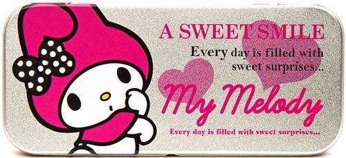 cute My Melody pencil case tin can rabbit Japan