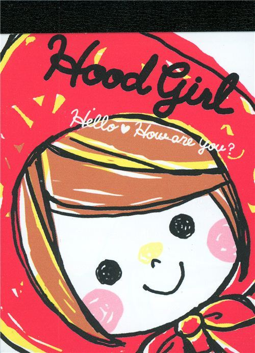 cute mini Memo Pad Little Red Ridinghood kawaii