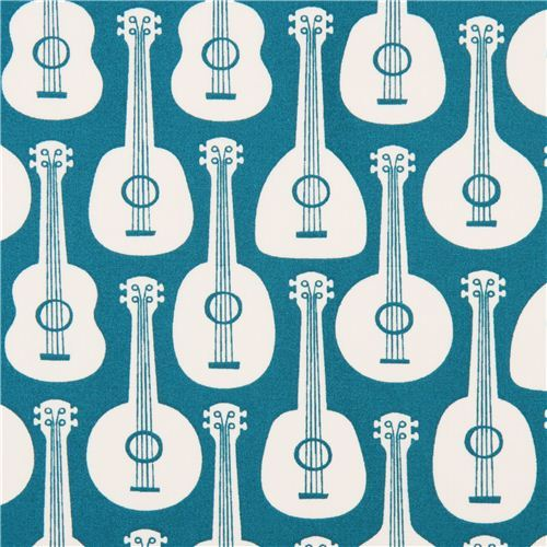 teal Bossa Ukes guitar ukulele organic fabric by birch