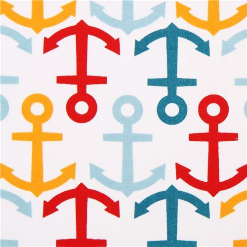 white birch anchor sailor organic fabric Anchors Away