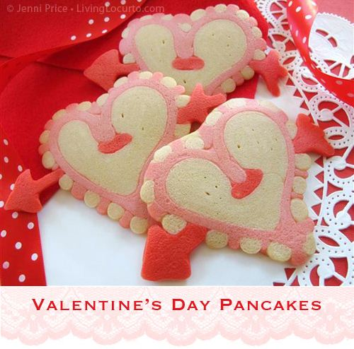 These Valentine's Day pancakes from Living Locurto are super easy to make