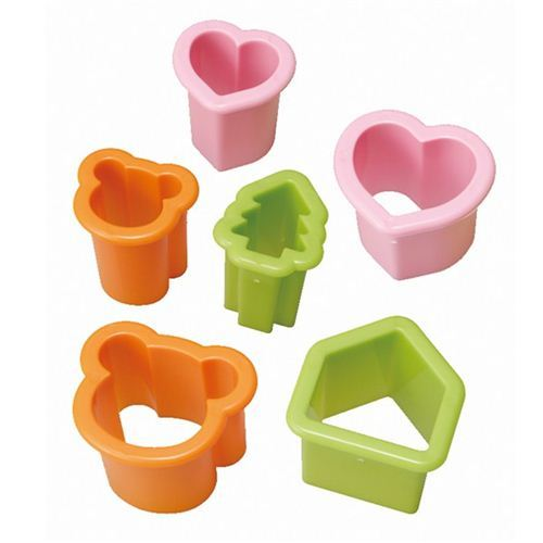 bear heart house tree Bento twin food cutters
