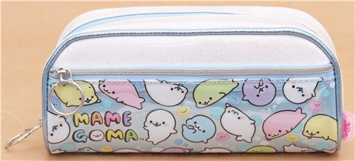 Mamegoma Baby seals dots jellyfish glitter pencil case by San-X