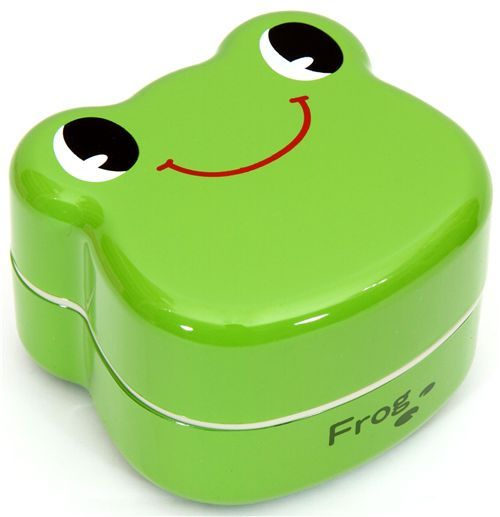 green Frog Bento Box lacquer lunch box Prime Nakamura