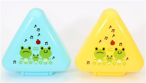 kawaii frogs Bento Box lunch box Onigiri box 2 pcs
