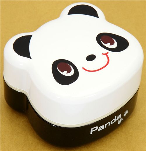 white Panda Bento Box lacquer lunch box Prime Nakamura