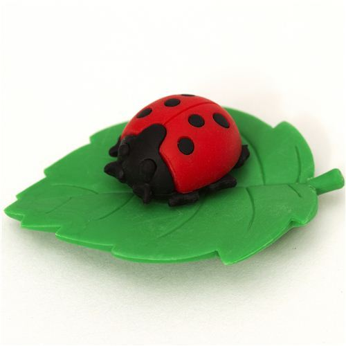 red ladybird eraser by Iwako from Japan