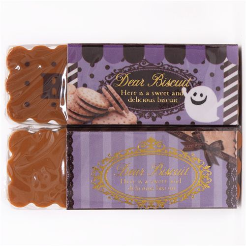 purple brown caramel biscuit eraser by Q-Lia from Japan