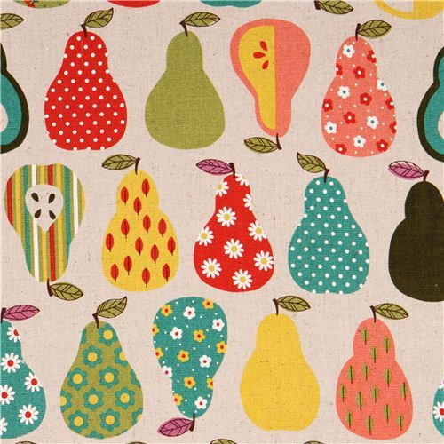 natural-colored pear fruit oxford fabric Cosmo Japan