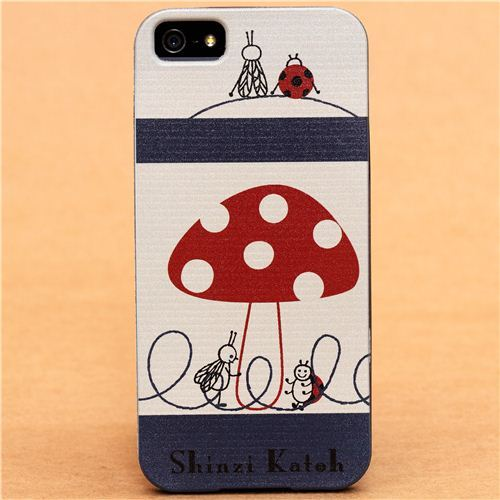 toadstool and bugs iPhone 5 hard cover case