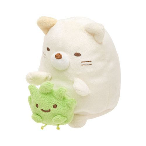 beige vibrating Sumikkogurashi cat San-X plush toy