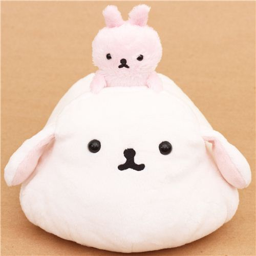 funny Mofutans mochi bunnies white and pink rabbit San-X plushie
