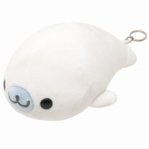 white vibrating Mamegoma baby seal San-X plush toy