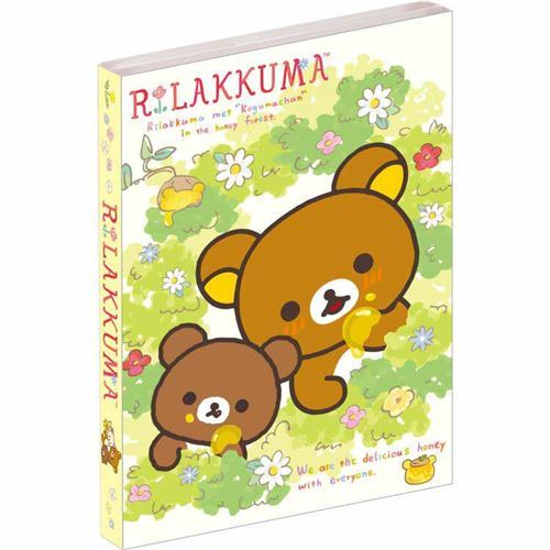 cute Rilakkuma friends honey flower mini memo pad book by San-X