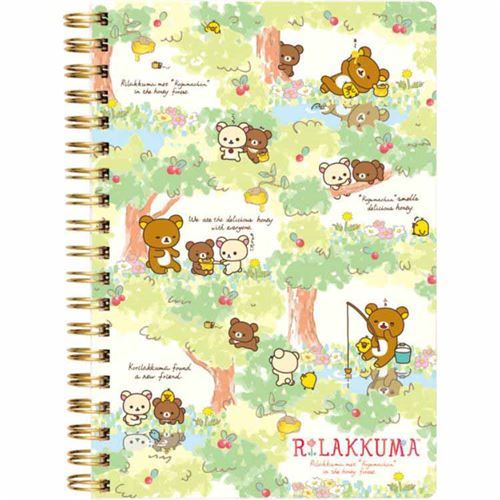 cute Rilakkuma friends red berry honey ring binder notebook kawaii
