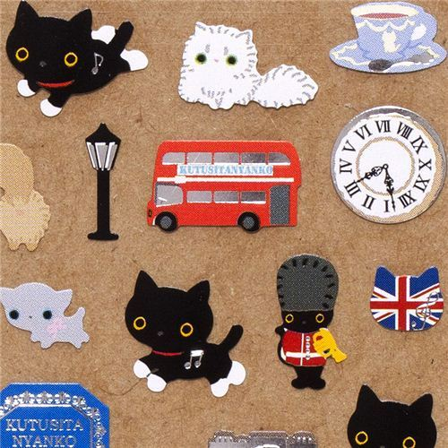 cute Kutusita Nyanko cat sticker London
