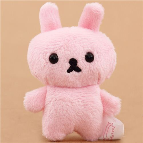 pink mini Mofutans mochi rabbit plush toy by San-X from Japan