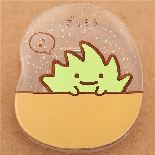 Sumikkogurashi glitter clip peg green seaweed