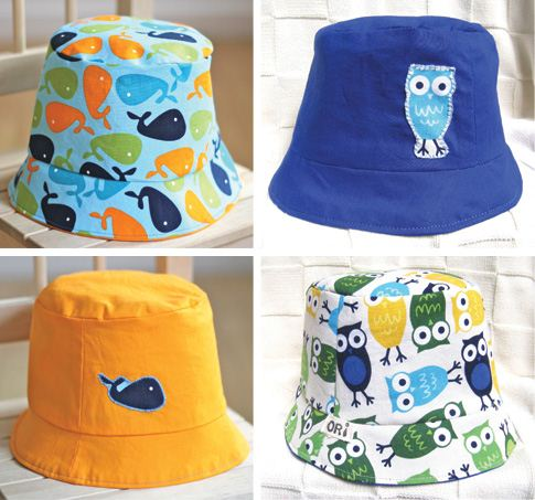 A designer made this wonderful children's summer hats with Anns fabrics (photo from Ann Kelles blog)