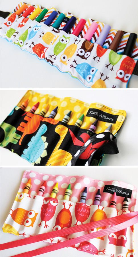 Another designer makes these adorable crayon holders with Ann Kelle fabrics (photo from Ann Kelles blog)