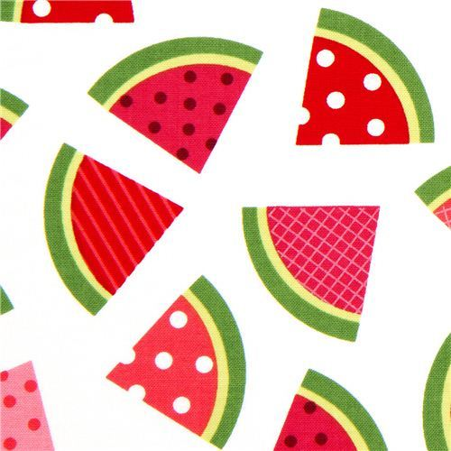 white watermelon fruit fabric by Robert Kaufman