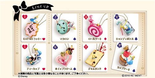 Alice in Wonderland keychains