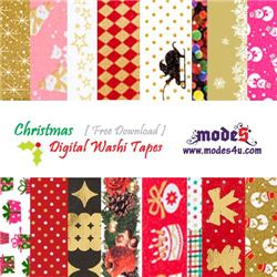 Free Download Digital Christmas Washi Tape