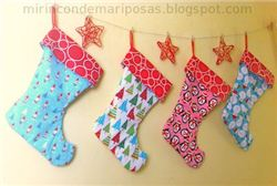 Reversible Christmas Stockings Tutorial on mirincondemariposas.blogspot.com (Spanish blog)