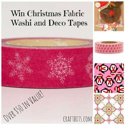 Craftbits Christmas Fabric, Deco Tapes And Washi Tapes Giveaway